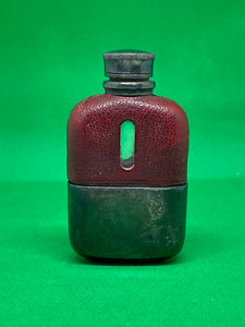Silver Plated Miniature Antique Hip Flask EPBM - Retro Treasure Leeds