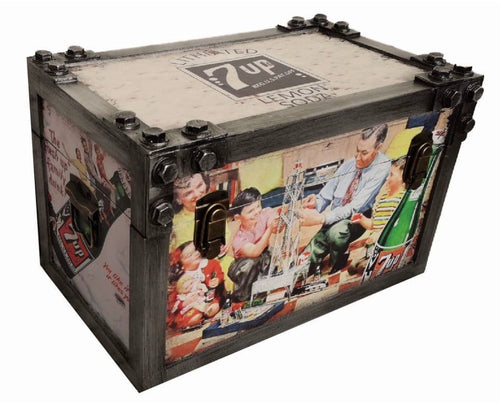 40cm 7 Up Metal Strapped Trunk