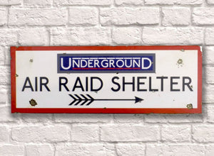 Air Raid Shelter Metal Sign - Retro Treasure Leeds