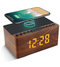 Load image into Gallery viewer, New ANJANK Bedside Wooden FM Radio Alarm Clock - Retro Treasure Leeds