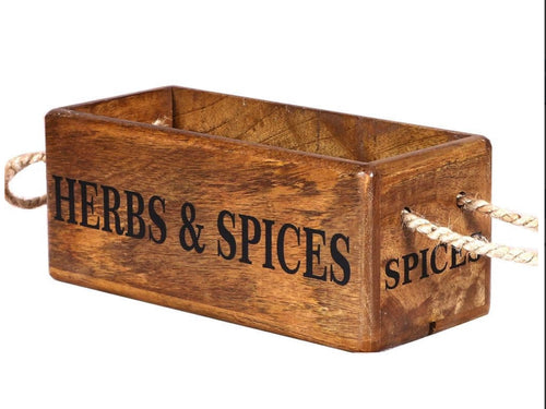 Herbs & Spices Wooden Box