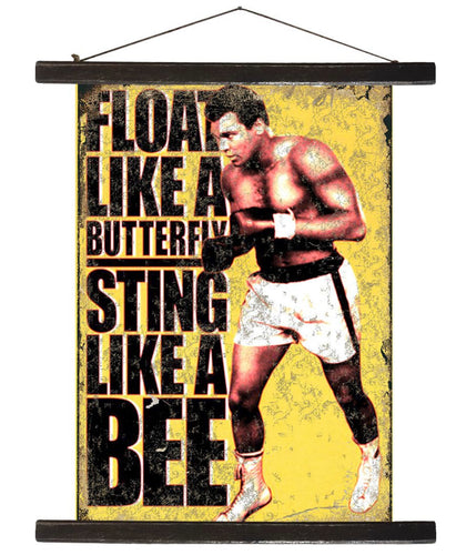 Float Like A Butterfly Antique Style Banner - Retro Treasure Leeds