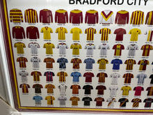Load image into Gallery viewer, Framed Bradford City FC Shirt Collection Images - Retro Treasure Leeds