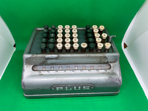Vintage Bell Punch Company Plus Adding Machine Vintage Calculator - Retro Treasure Leeds