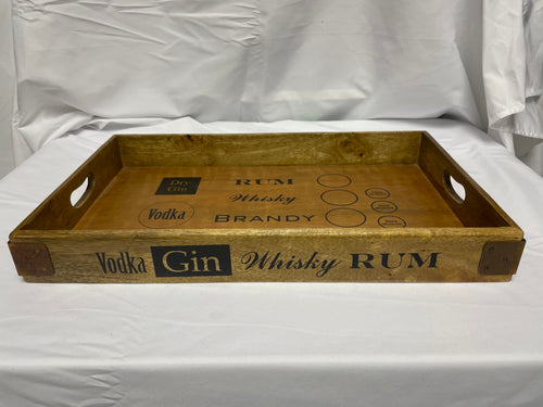 Wooden Drinks Tray Medium