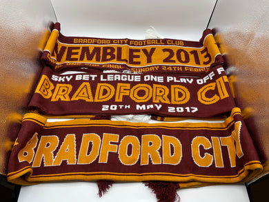 Bradford City FC Scarf Collection. Two, Wembley