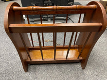 Load image into Gallery viewer, Large Oak Magazine Rack - Retro Treasure Leeds