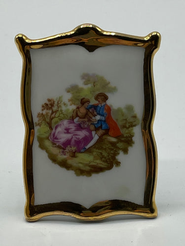 Vintage Limoges Frame 22ct Gold Edge