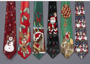 Musical Christmas Ties - Retro Treasure Leeds