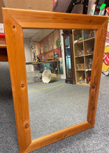 Load image into Gallery viewer, Pine Framed Mirror - Retro Treasure Leeds