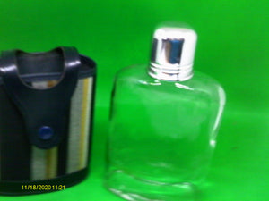 Glass Hip Flask with Real Hide Cover - Retro Treasure Leeds
