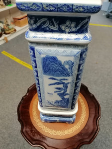 Chinese Blue and White Square Jardiniere - Retro Treasure Leeds
