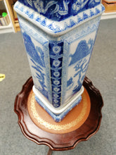 Load image into Gallery viewer, Chinese Blue and White Square Jardiniere - Retro Treasure Leeds
