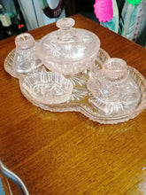 Load image into Gallery viewer, Art Deco Dressing Table Set Peach - Retro Treasure Leeds