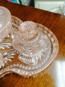 Art Deco Dressing Table Set Peach - Retro Treasure Leeds
