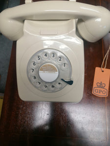 Classic Rotary Telephone GPO746 Cream - Retro Treasure Leeds