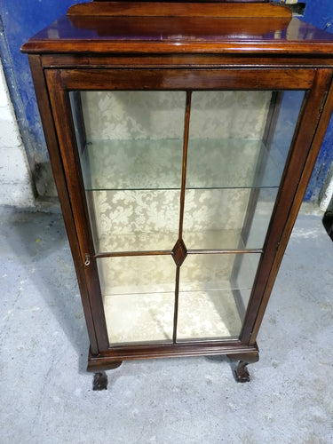 Solid Wood and Glass Display Cabinet - Retro Treasure Leeds