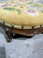 Load image into Gallery viewer, Embroidered Foot Stool - Retro Treasure Leeds