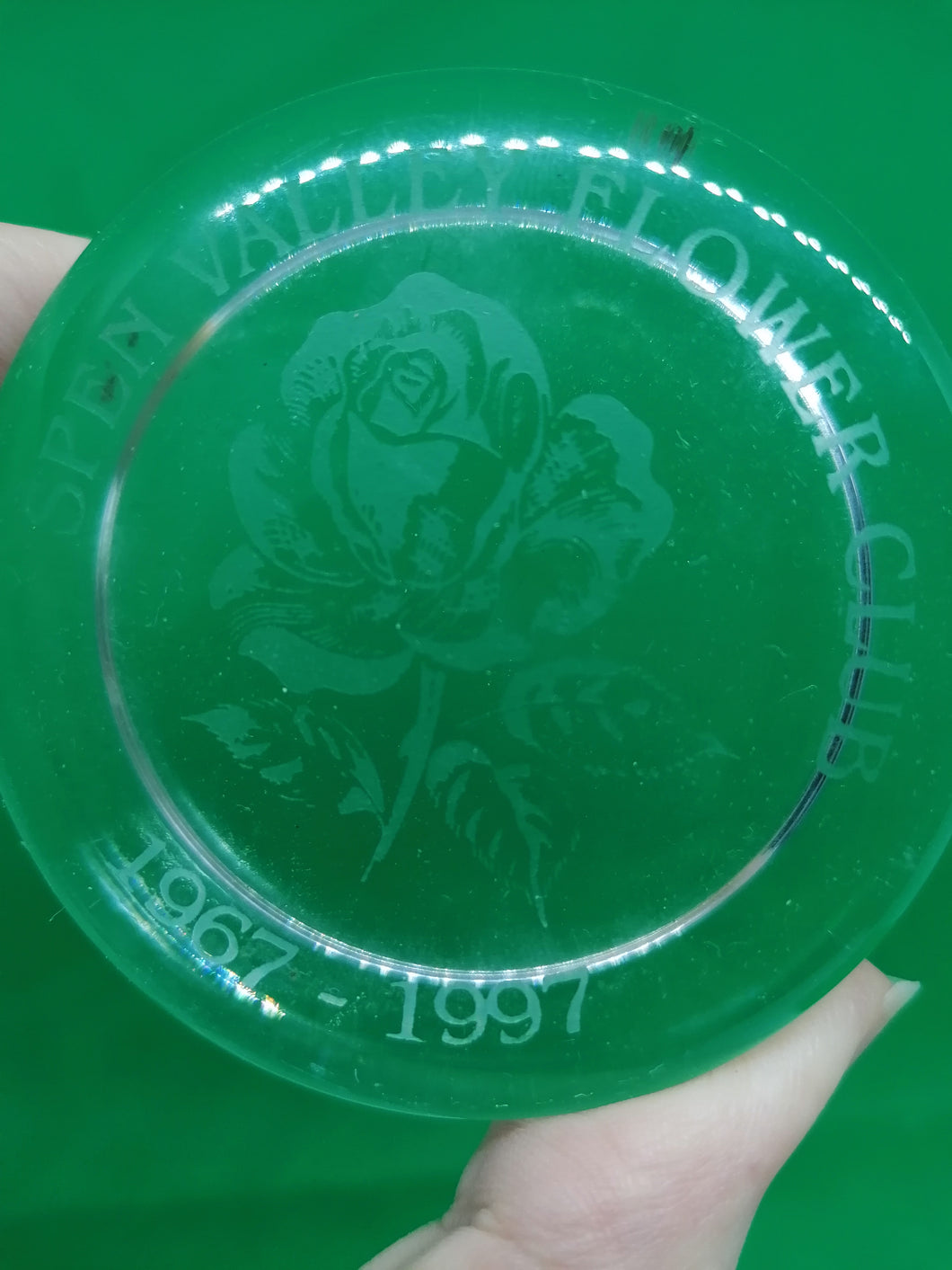 Spen Valley Flower Club Paperweight - Retro Treasure Leeds