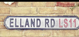 Elland Rd LS11 sign - Retro Treasure Leeds