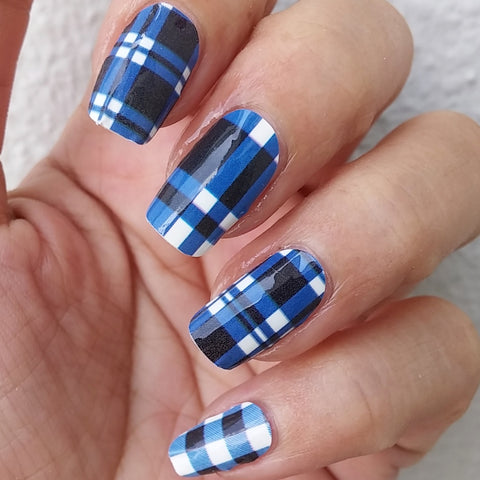 Zappy Blue Nail Sticker