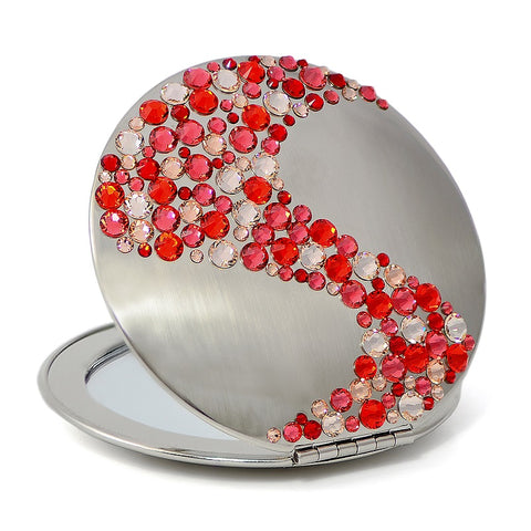 Corals Red Swarovski Compact Mirror - Nail Art Singapore