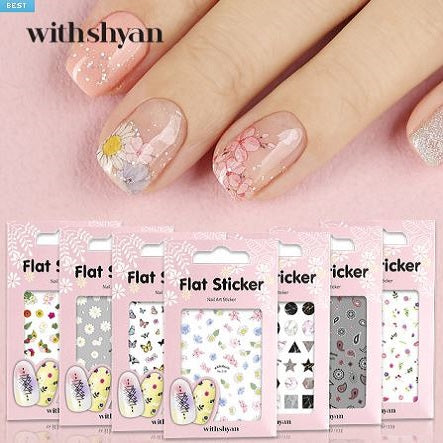 Withshyan Flat Nail Stickers - Nail Art Singapore