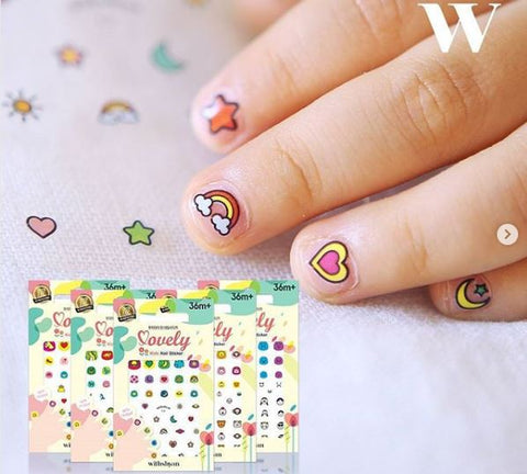 Kids Non Toxic Nail Stickers - Nail Art Singapore