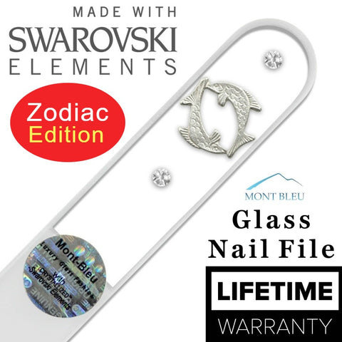 Swarovski Zodiac Glass Nail File - Nail Art Singapore