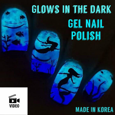 RUBENS Glow in the Dark Gel Nail Polish - Nail Art Singapore