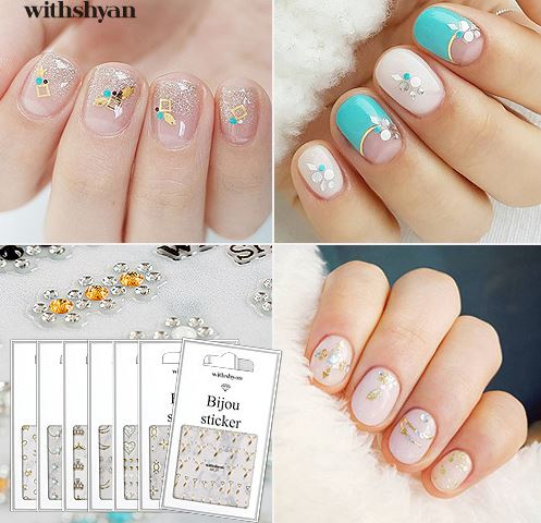 WithShyan Broach Nail Stickers - Nail Art Singapore