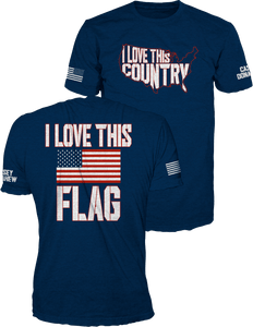 I Love This Country Navy Tee