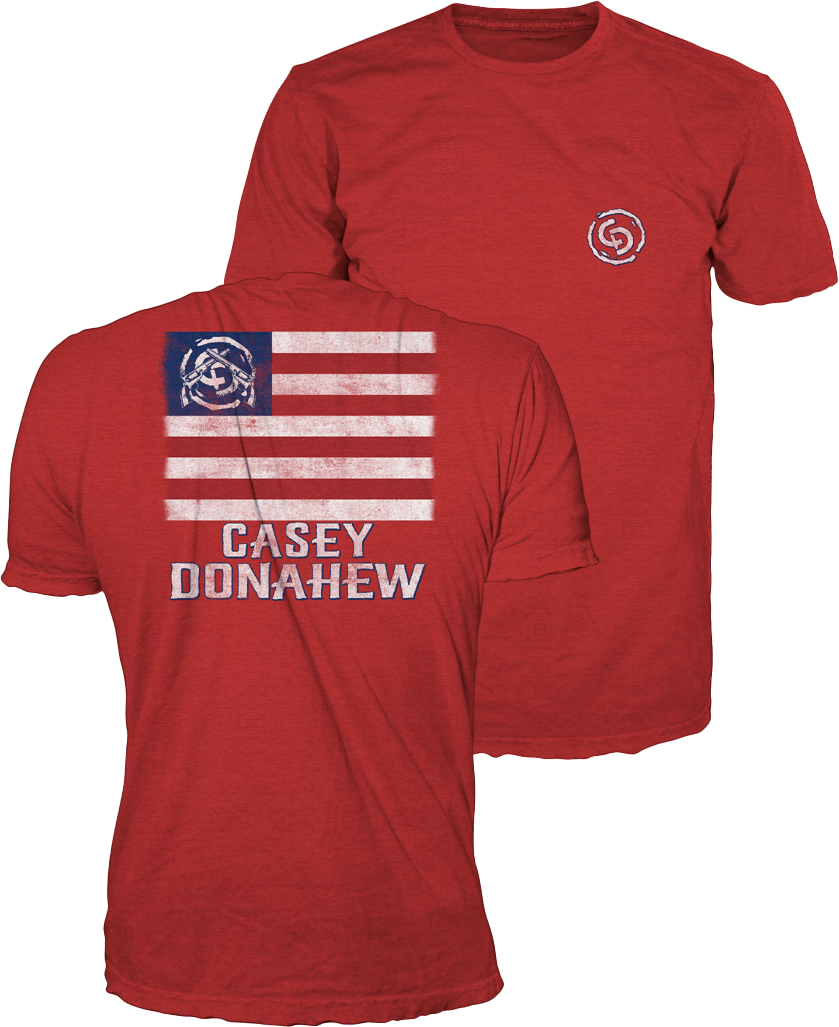 Red Mens Flag Tee