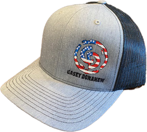 Flag Logo Grey Hat