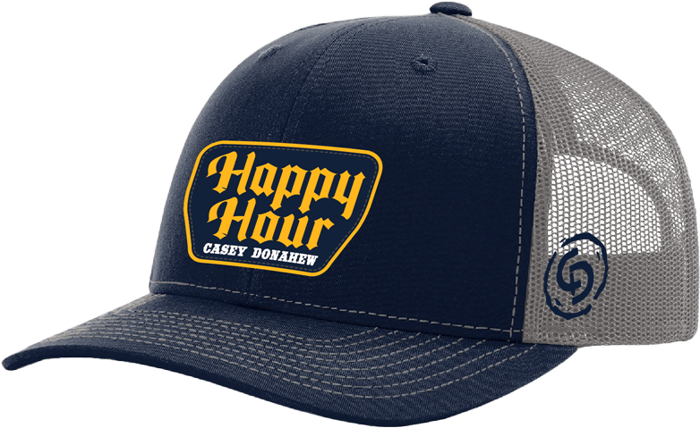 Trucker Navy Happy Hour Hat