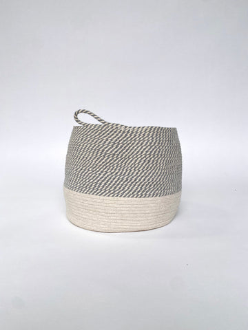 ROPE BASKET - LARGE OFF WHITE & GREY