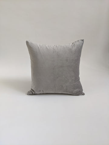 CUSHION COVER - GREY LINEN / VELVET DOUBLE SIDED