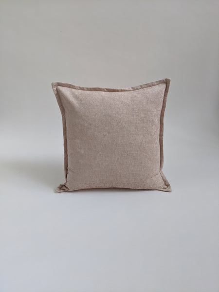 CUSHION COVER - PINK CHENILLE