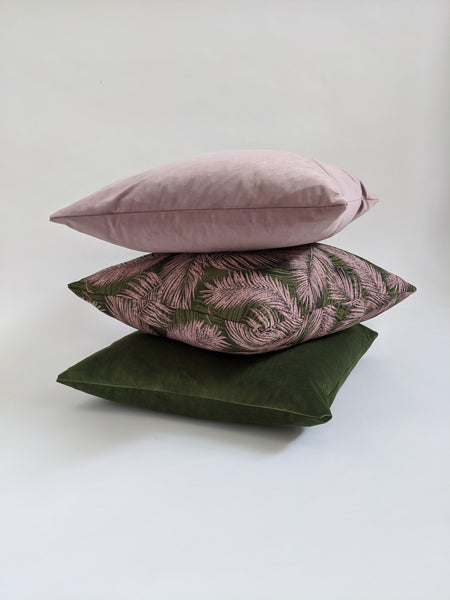 CUSHION COVER - BLUSHED ROSE VELVET