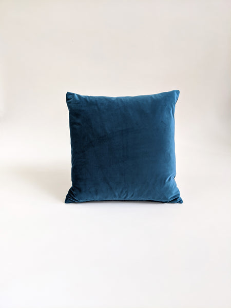 CUSHION COVER - PEARL / TEAL TWO SIDE VELVET