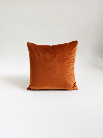CUSHION COVER - RUST VELVET