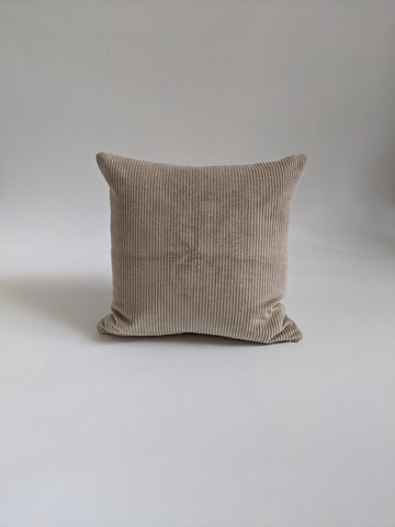 CUSHION COVER - CREAM CORDUROY VELVET