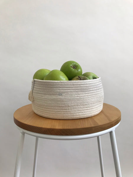 ROPE BASKET - MEDIUM WITH GREY CONTRAST