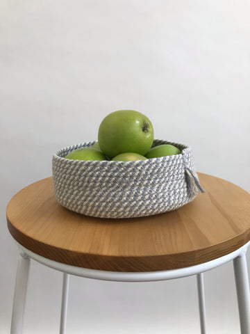 ROPE KEY BOWL - CREAM & GREY