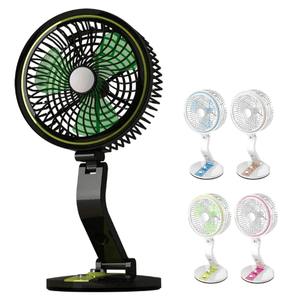 Wall-mounted/Desktop Rechargeable USB Folding Electric Fan With LED Light