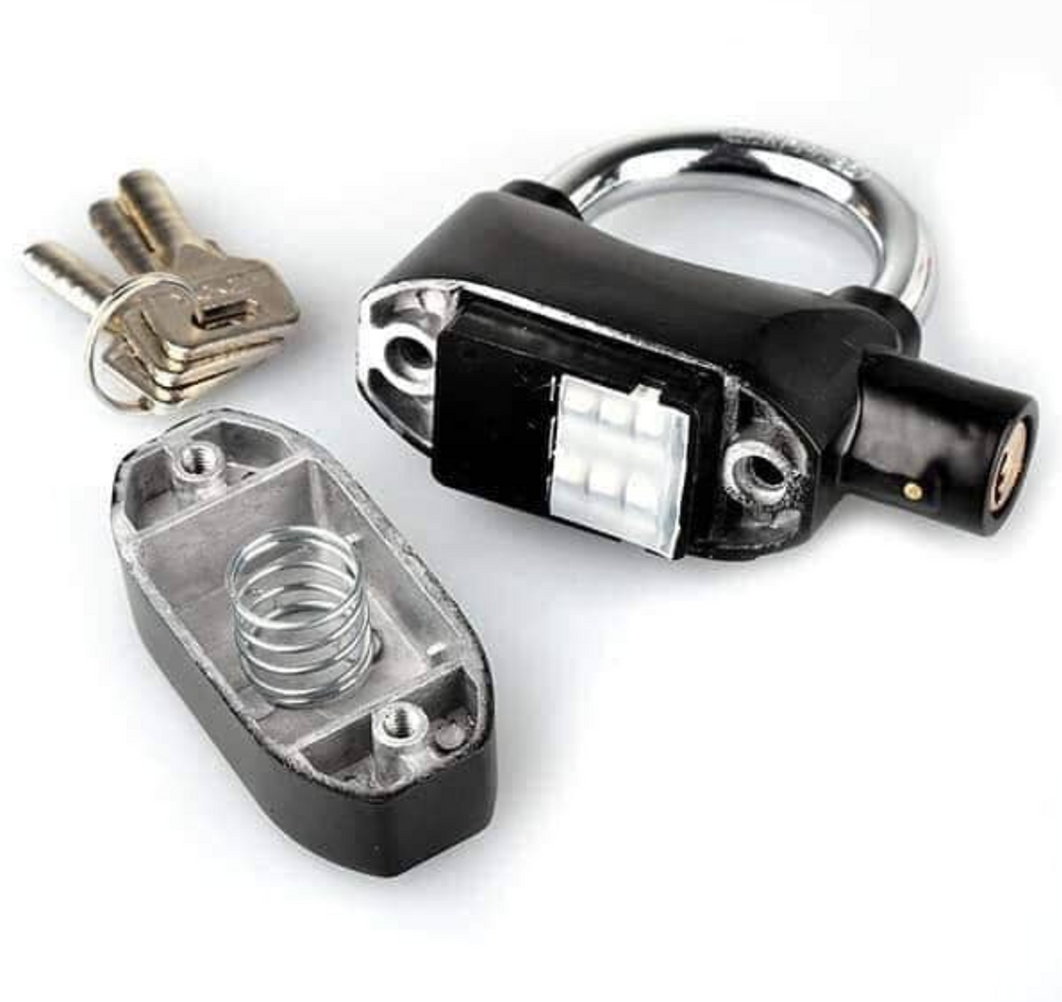 Waterproof Safety Padlock with Siren