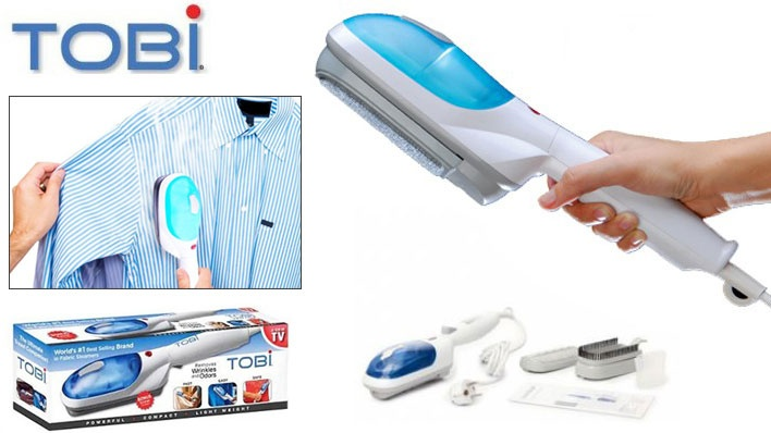 Tobi Portable Travel Steamer - Hi-Tech Cloth Iron and Deodorizer