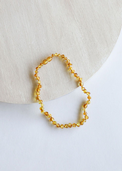Polished Honey Amber || Necklace