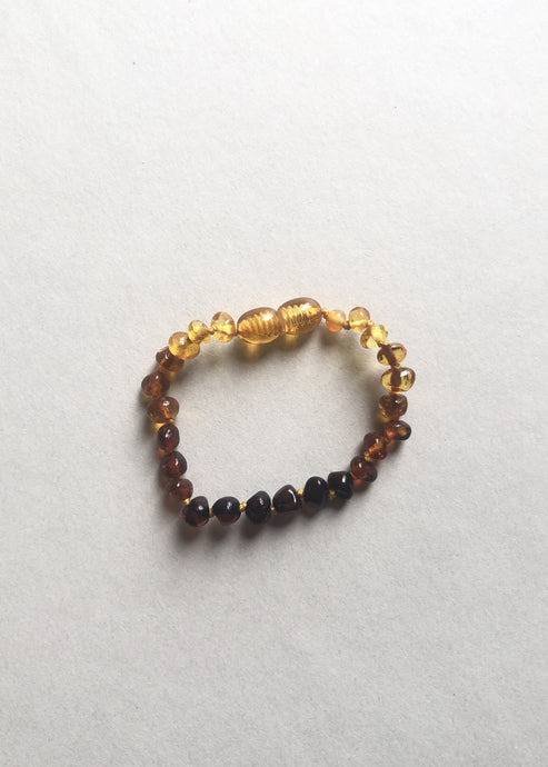 Polished Ombre Amber || Kids Anklet or Bracelet
