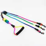 Load image into Gallery viewer, Rainbow Detachable Triple Leash with Foam Handle